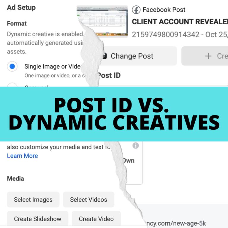 DimNiko   Post ID vs Dynamic Creative