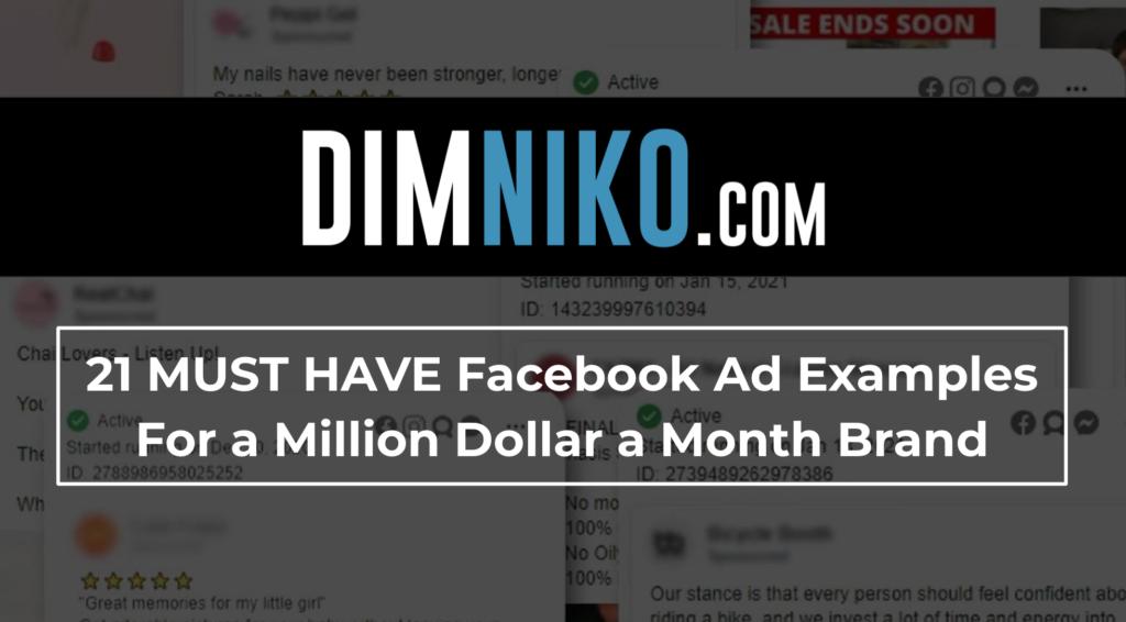 DimNiko | Facebook Ad Examples